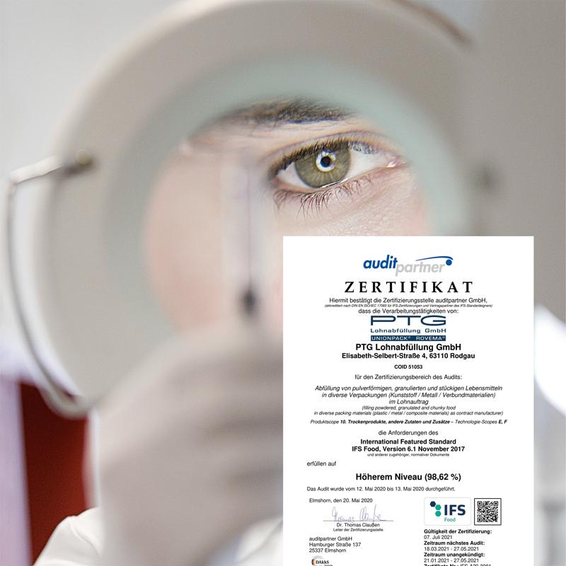 Erfolgreich auditiert: PTG bestätigt IFS und GfRS Zertifizierungen